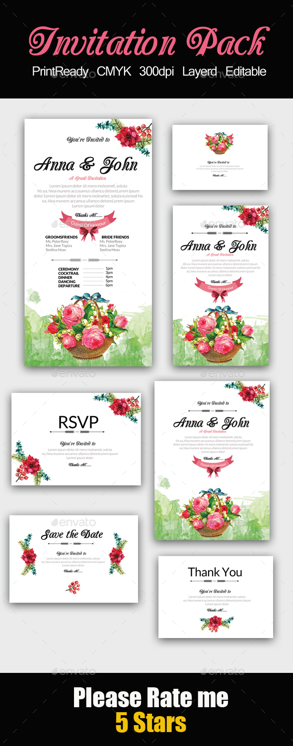 Floral Invitation Pack