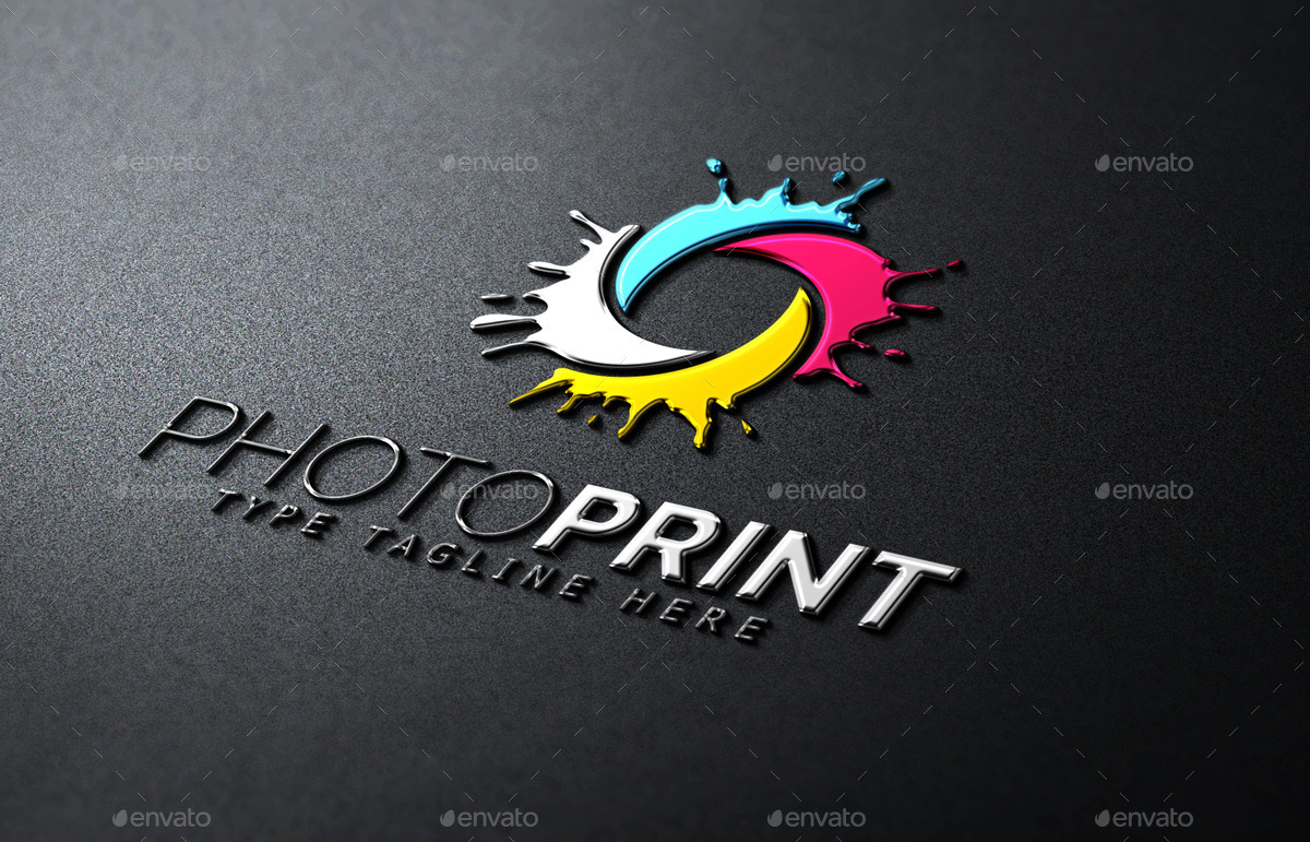 Photo Print  Logo Template By Propen  Graphicriver. Tracking Signs. Xuv 500 Decals. Tle Lettering. Devil Lettering. Hamburger Signs Of Stroke. Cramps Signs. Decal Maker. Facial Skin Signs Of Stroke