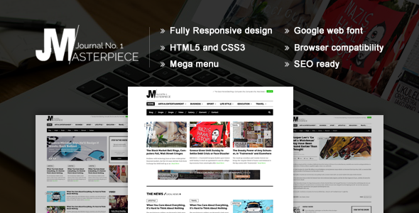 Masterpiece - HTML5 Magazine Template