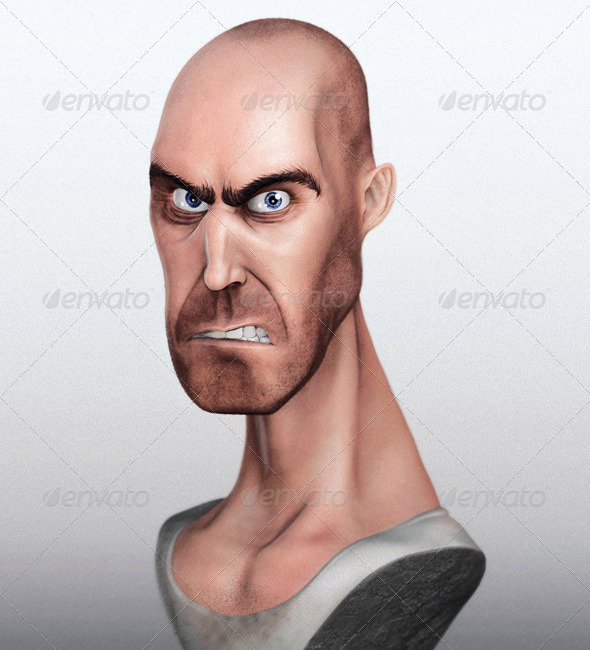 Action Hero Caricature - by Soulty - 3DOcean Item for Sale