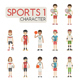 Set of Sport Characters