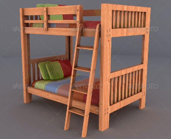 3DOcean Bunk bed 161208