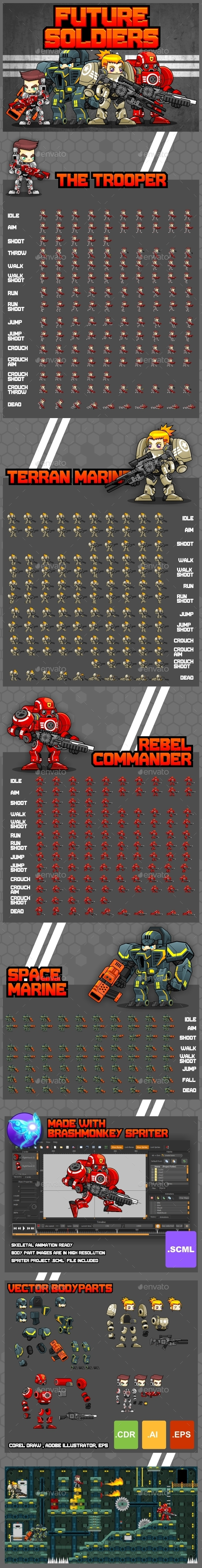 Future Soldiers - Game Sprites (Sprites)
