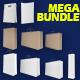 Shopping bags / box mega bundle mock-up