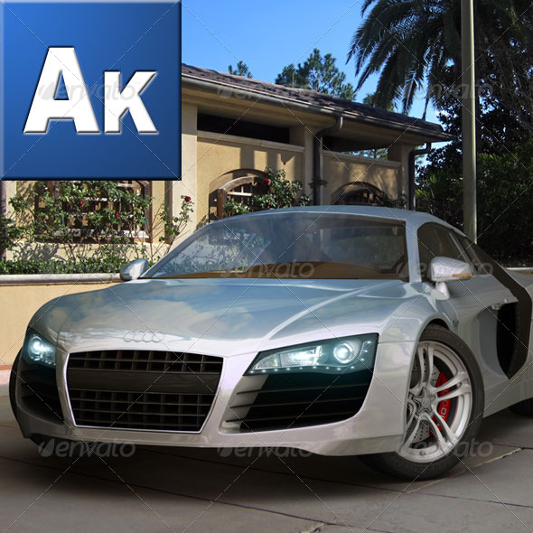 Audi R8 Rigged and ready for animation