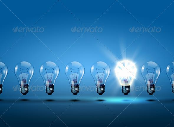 PhotoDune row of light bulbs 1347651