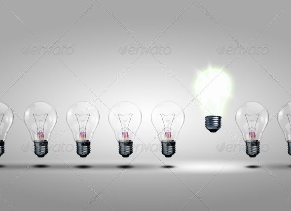 PhotoDune row of light bulbs 1347653