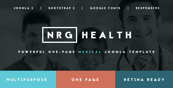 Image of NRGhealth - Trendy Medical & Healthcare Template