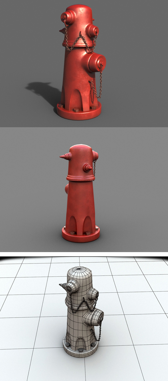 Fire Hydrant - 3DOcean Item for Sale