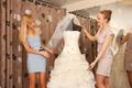 Women Shopping For Wedding Dress