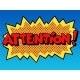 Attention Inscription Comic Book Style