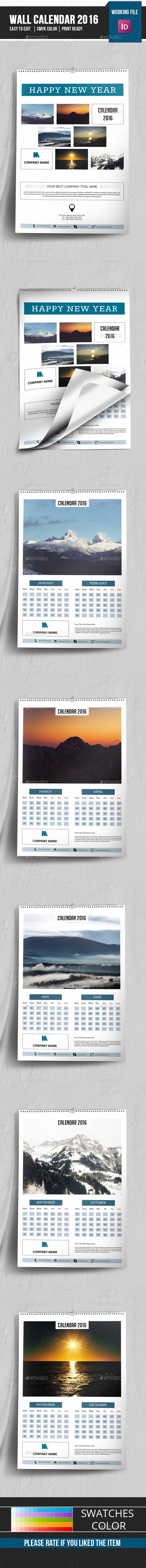 Wall Calendar Template-V12