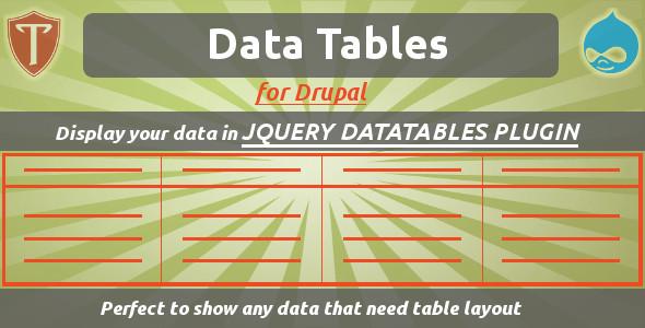 Data Tables for Drupal
