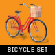 Bicycle With Baskets Set