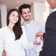 Download couple buying new home with real estate agent from PhotoDune