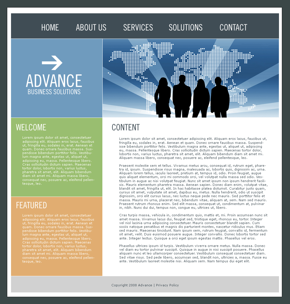 Advance Business Template