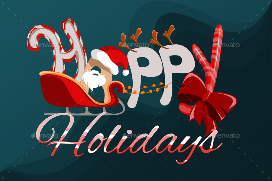 Happy Holidays Background By Irissnebula Graphicriver