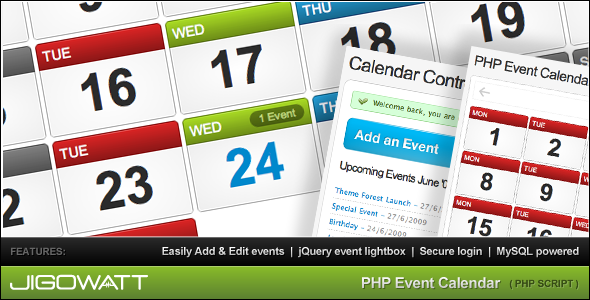 CodeCanyon PHP Event Calendar 47723