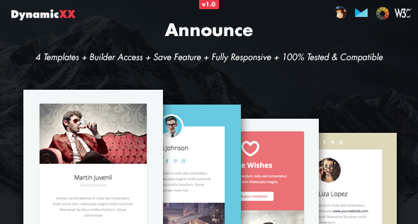 Download Announce - 4x Responsive Email + Online Builder nulled download