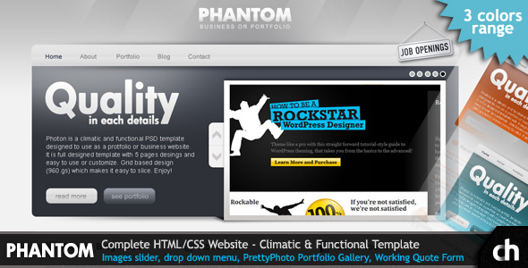 PHANTOM - Climatic and Functional HTML Template - Phantom Preview
