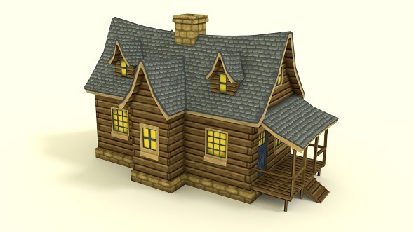 Low Poly RPG House - 3DOcean Item for Sale