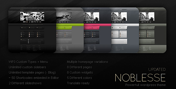 ThemeForest Noblesse 149535