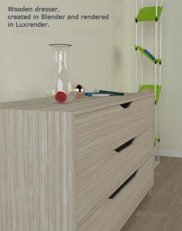 3DOcean Wooden Dresser 161510