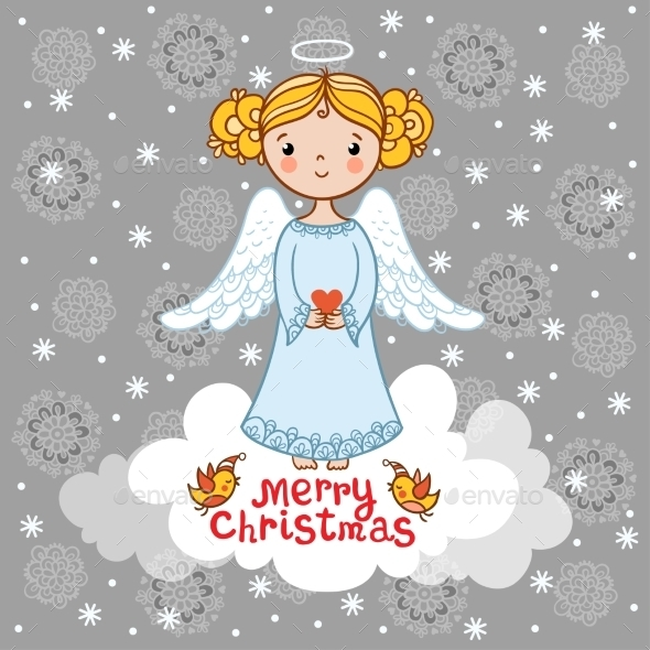 Christmas Card With An Angel.