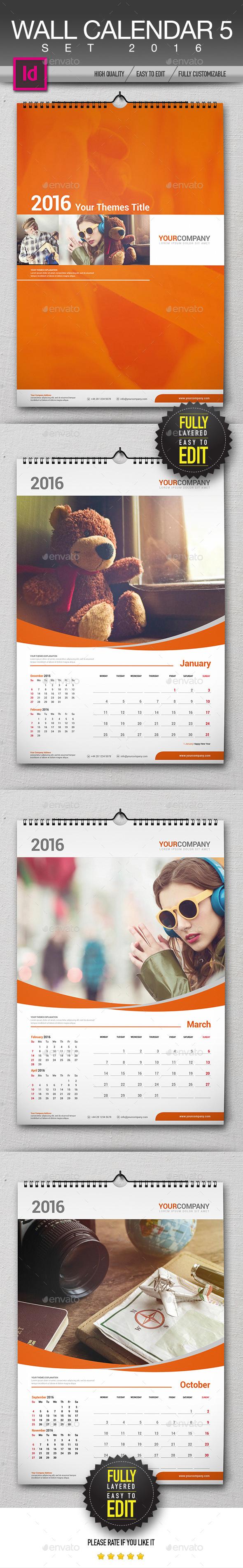 Wall Calendar 2016 Set