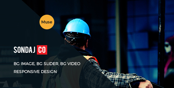Sondaj Construction Responsive Muse Template