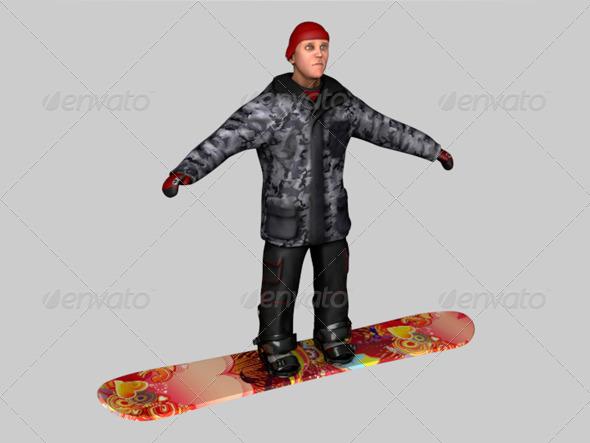 3DOcean Snowboarder 161612