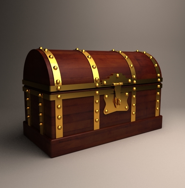 Old Treasure box - 3DOcean Item for Sale