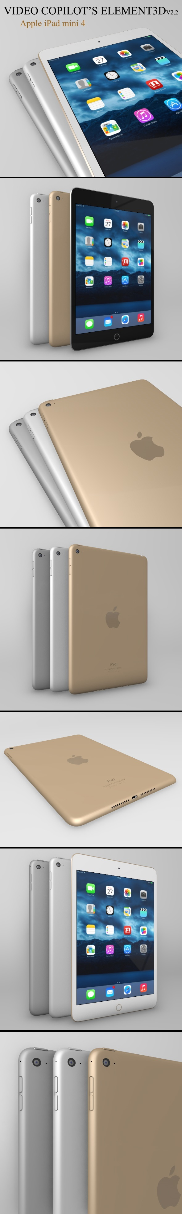 Element3D - iPad Mini 4 - 3DOcean Item for Sale