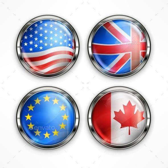 Flag Round Icons