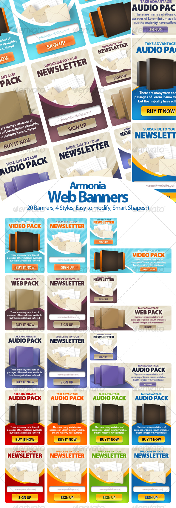 Armonia Web Banners - Web Elements