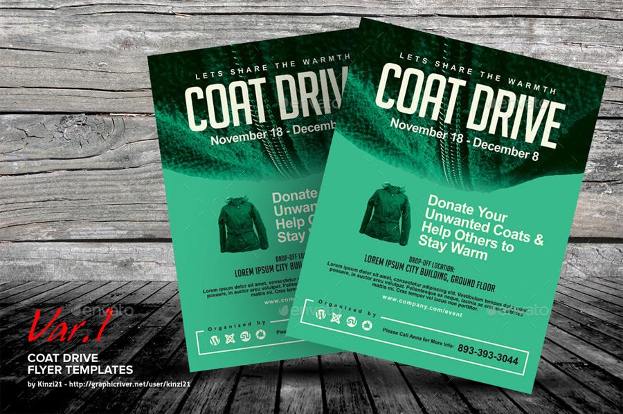coat drive flyer templates by kinzi21