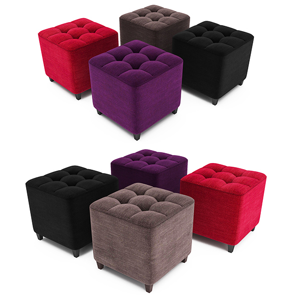 Pouf capitonne - 3DOcean Item for Sale