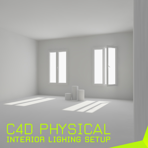 interior lighting setup for c4d(physical) - 3DOcean Item for Sale