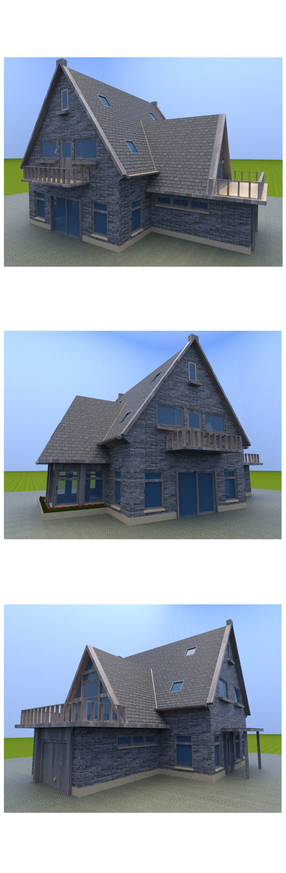 Old house design - 3DOcean Item for Sale