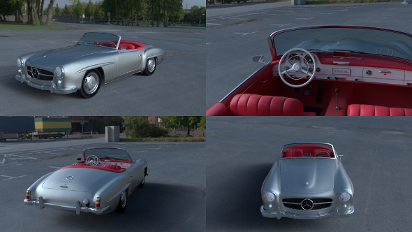Mercedes 190SL with Interior - 3DOcean Item for Sale
