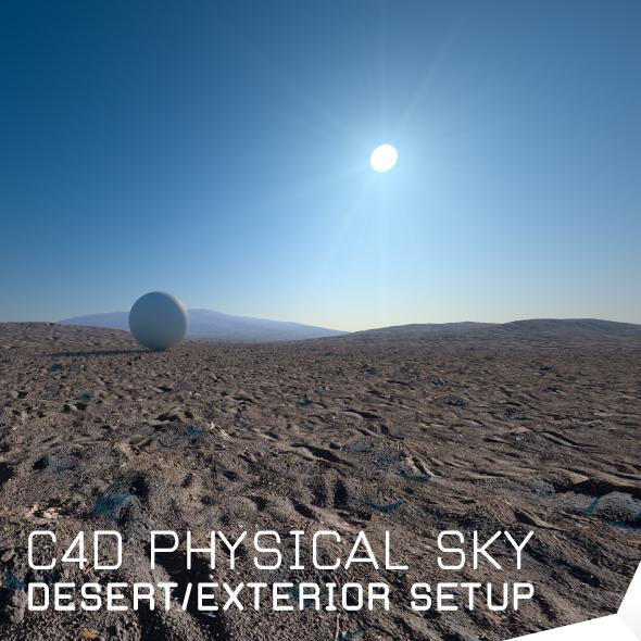 desert exterior render setup c4d(physical sky) - 3DOcean Item for Sale