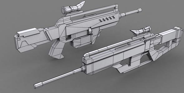 Game Weapon Model 2 - 3DOcean Item for Sale