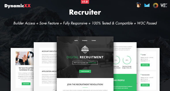 Download Recruiter - Responsive Email + Online Builder nulled download