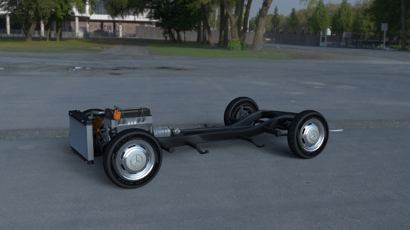 Mercedes Benz 190SL Full Chassis - 3DOcean Item for Sale