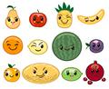 Fruit kawaii characters