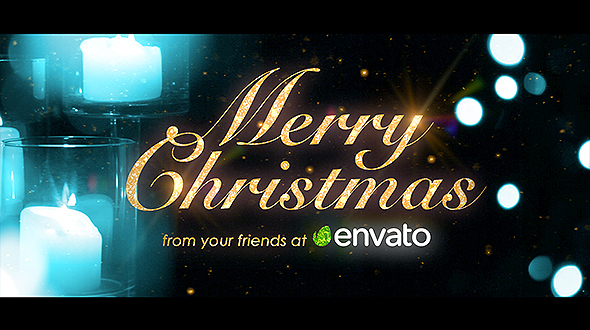 AE模板-优雅梦幻圣诞节日快乐公司年会新年祝福魔法粒子光斑模版 免费下载