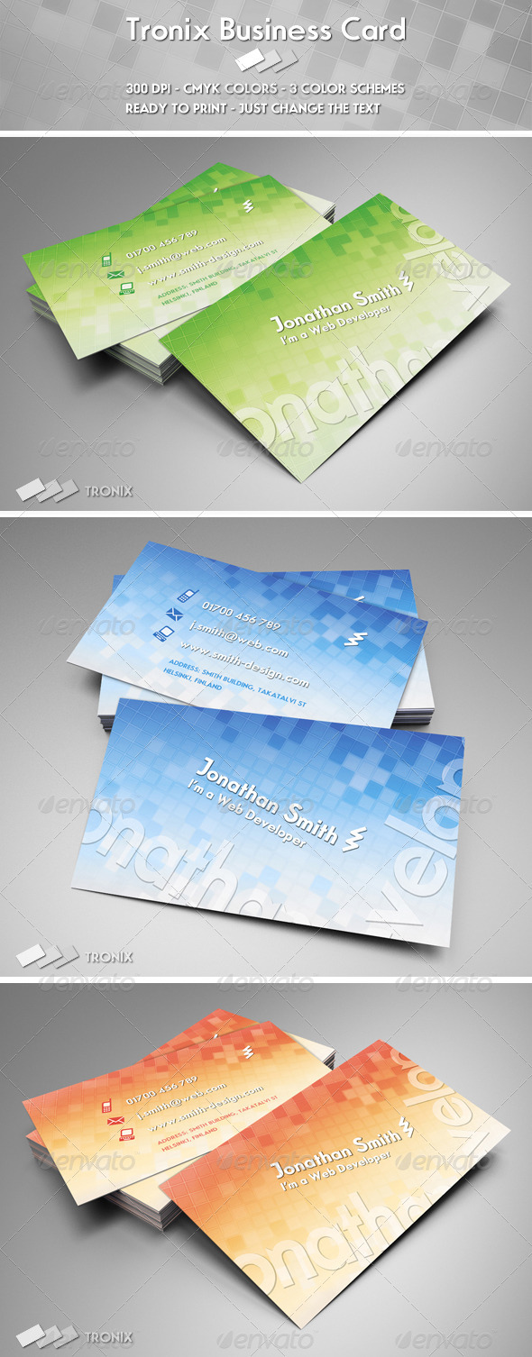 Tronix Business Card - Creative Business Cards