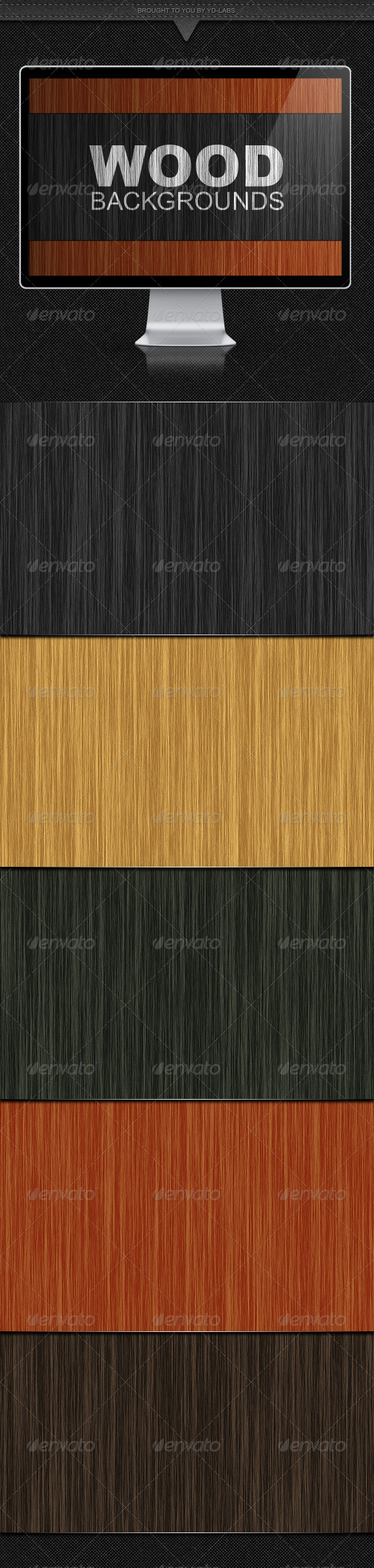 GraphicRiver 5 Wood Backgrounds 1351644
