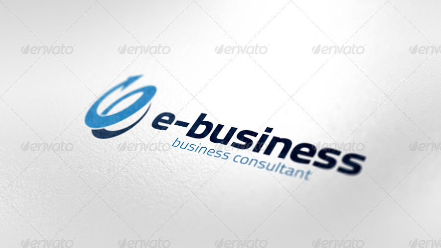 E Business Logo Template By Klop Graphicriver