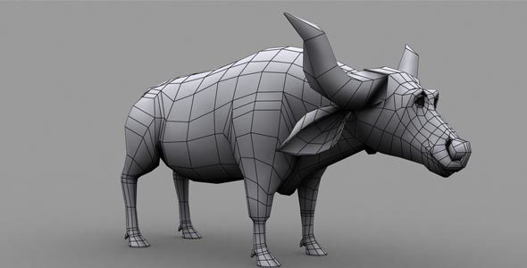 Buffalo Low Poly Model - 3DOcean Item for Sale